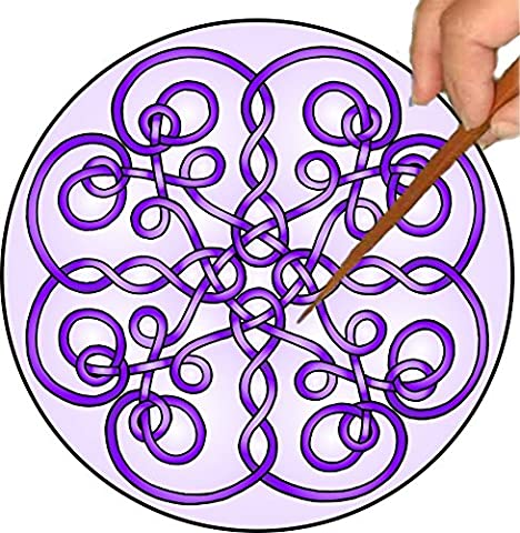 Purple Celtic Twists Mandalynth: A Focus Tool for Stress Relief, Meditation and Mental Exercise (Special Needs Exercise)