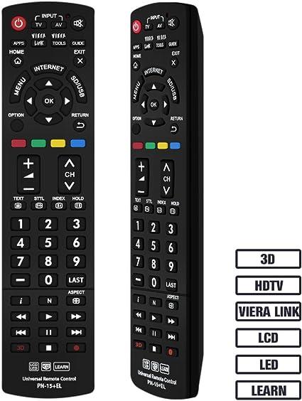 Grock Mando a Distancia Universal PN-15 Compatible de Repuesto para PANASONIC TV/Viera Link/HDTV/3d/LCD/LED, aplicable n2qayb000485 N2QAYB000100 N2qayb000221 N2qayb00048: Amazon.es: Electrónica