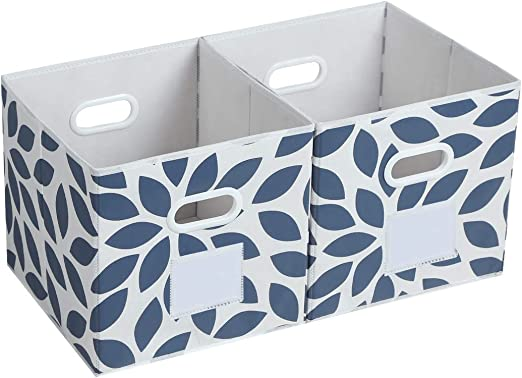 MAX Houser Fabric Storage Bins Cubes Baskets Containers with Dual Plastic...