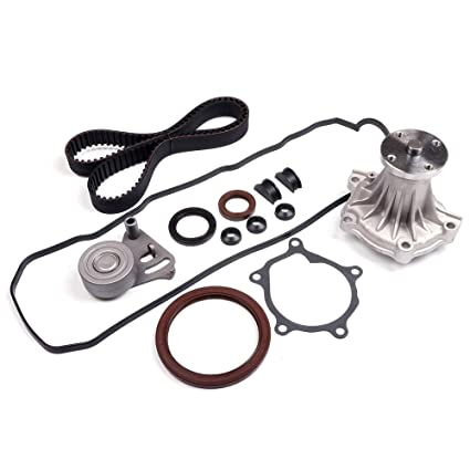 ocpty timing belt kit including timing belt water pump with gasket  tensioner bearing etc, compatible