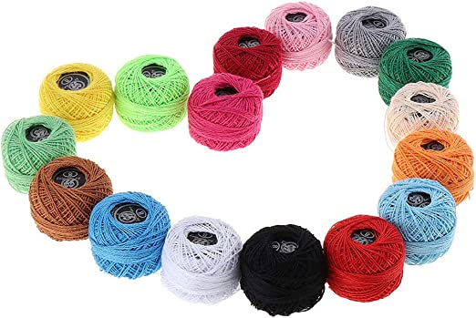 non-brand 16 Piezas Hilo de Coser de Algodón de Colores ...