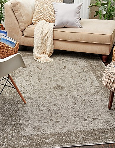 Up to the minute Vintage 7 feet by 10 feet (7' x 10') La Jolla Light Gray Contemporary Area Rug