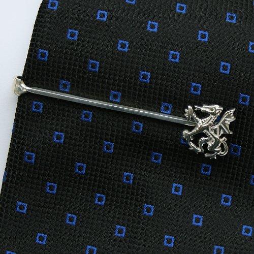 ZAUNICK Dragon Tie Clip Sterling Silver