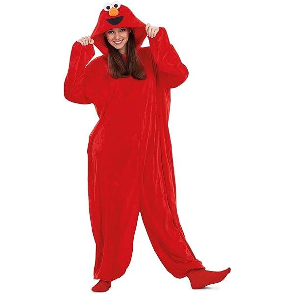 Barrio Sésamo Disfraz Pijama de Elmo para Adultos : Amazon.es ...