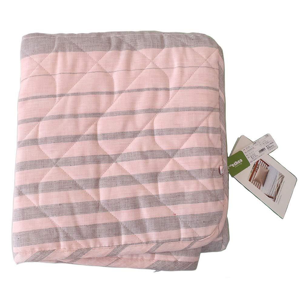 西川リビング シングルサイズ 洗える 本麻敷パッドシーツ(日本製) ピンク色 B01BZNEEUW
