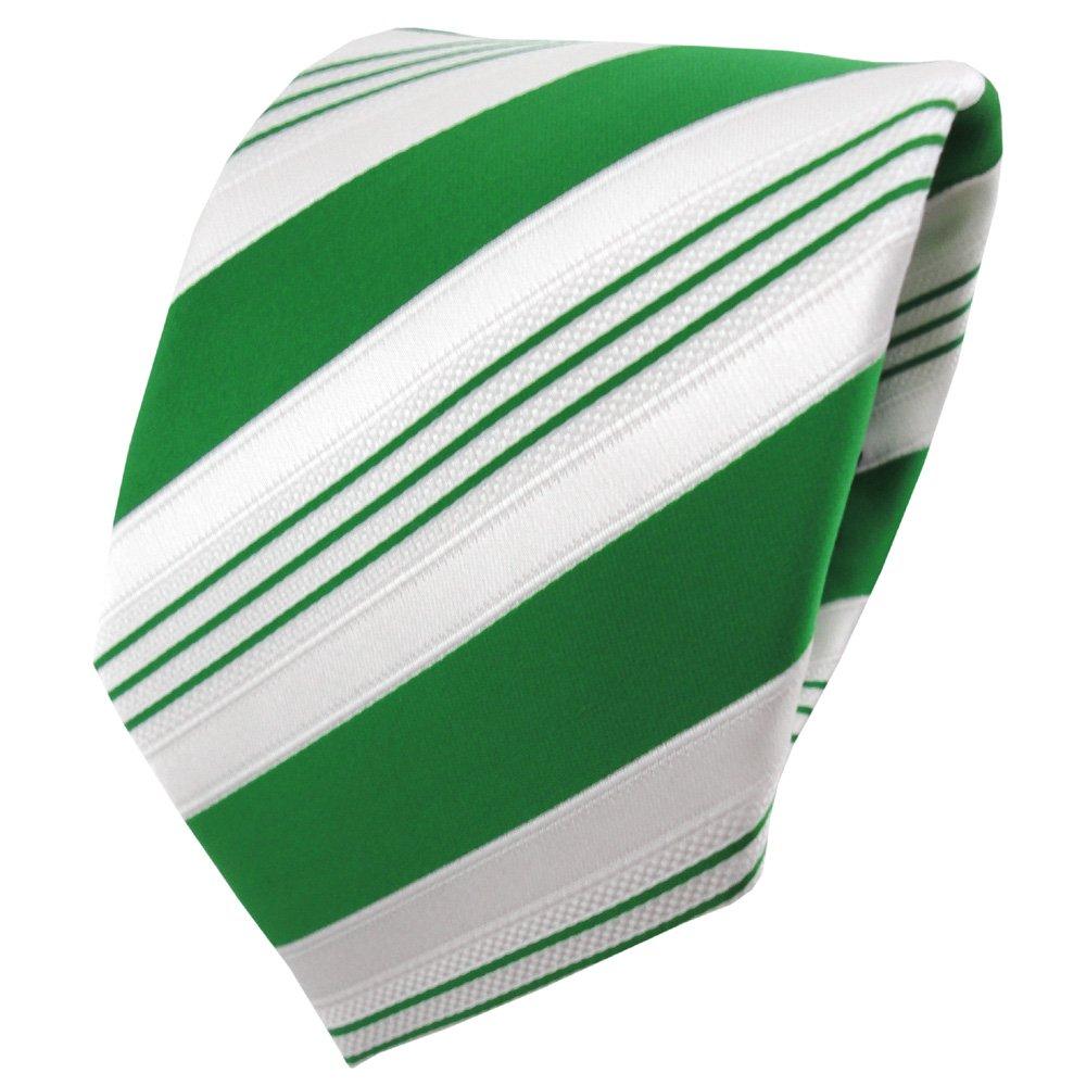 TigerTie - lazo de satén - verde verde esmeralda blanco plata ...