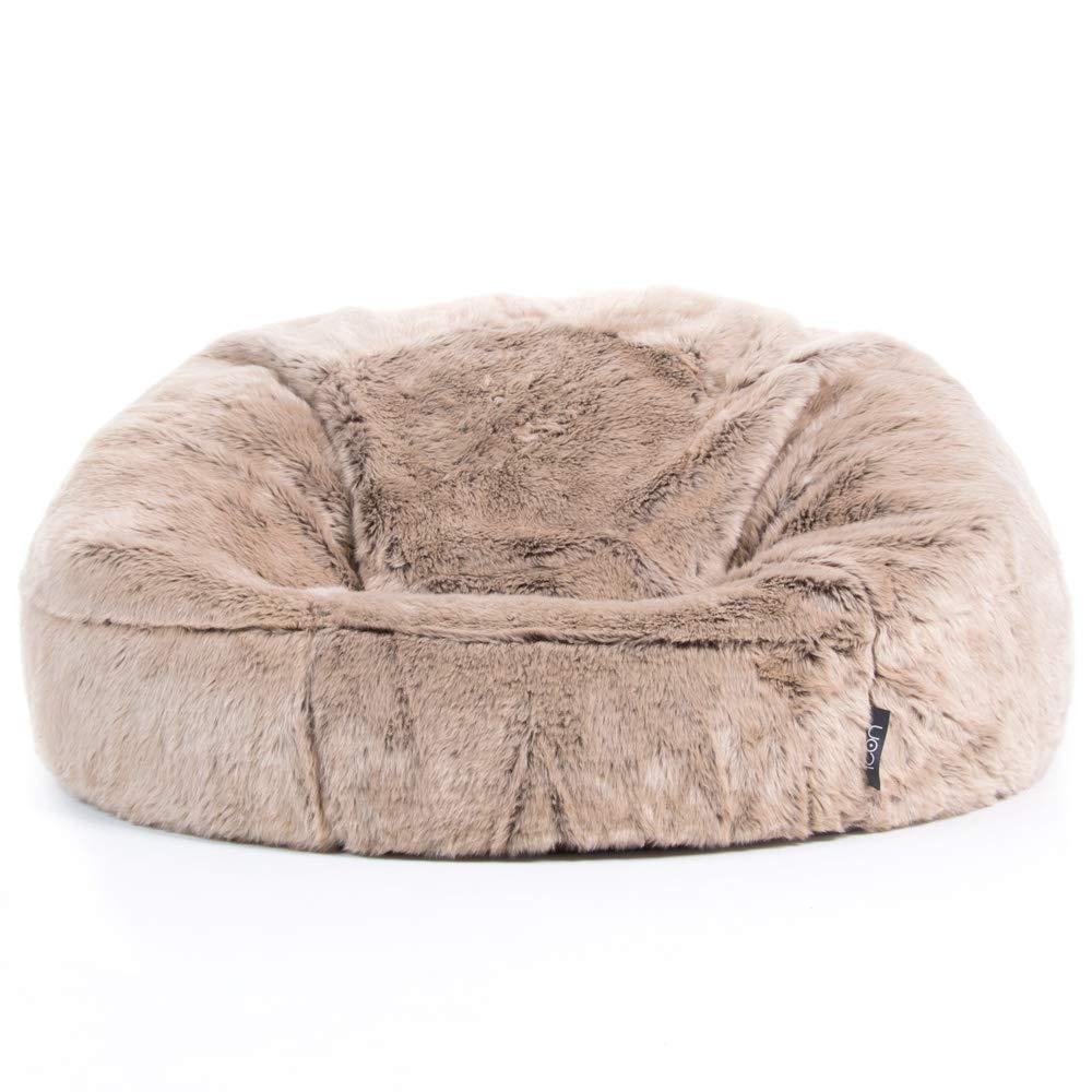 Poltrona sacco extra-large in eco-pelliccia prodotta da ICON crema Poltrona sacco extra-large in eco-pelliccia Poltrona sacco per adulti di alta qualit/à