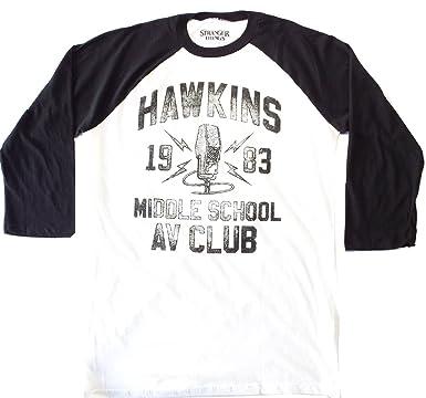 Stranger Things T Shirt Hawkins Middle School Av Club 34 Long