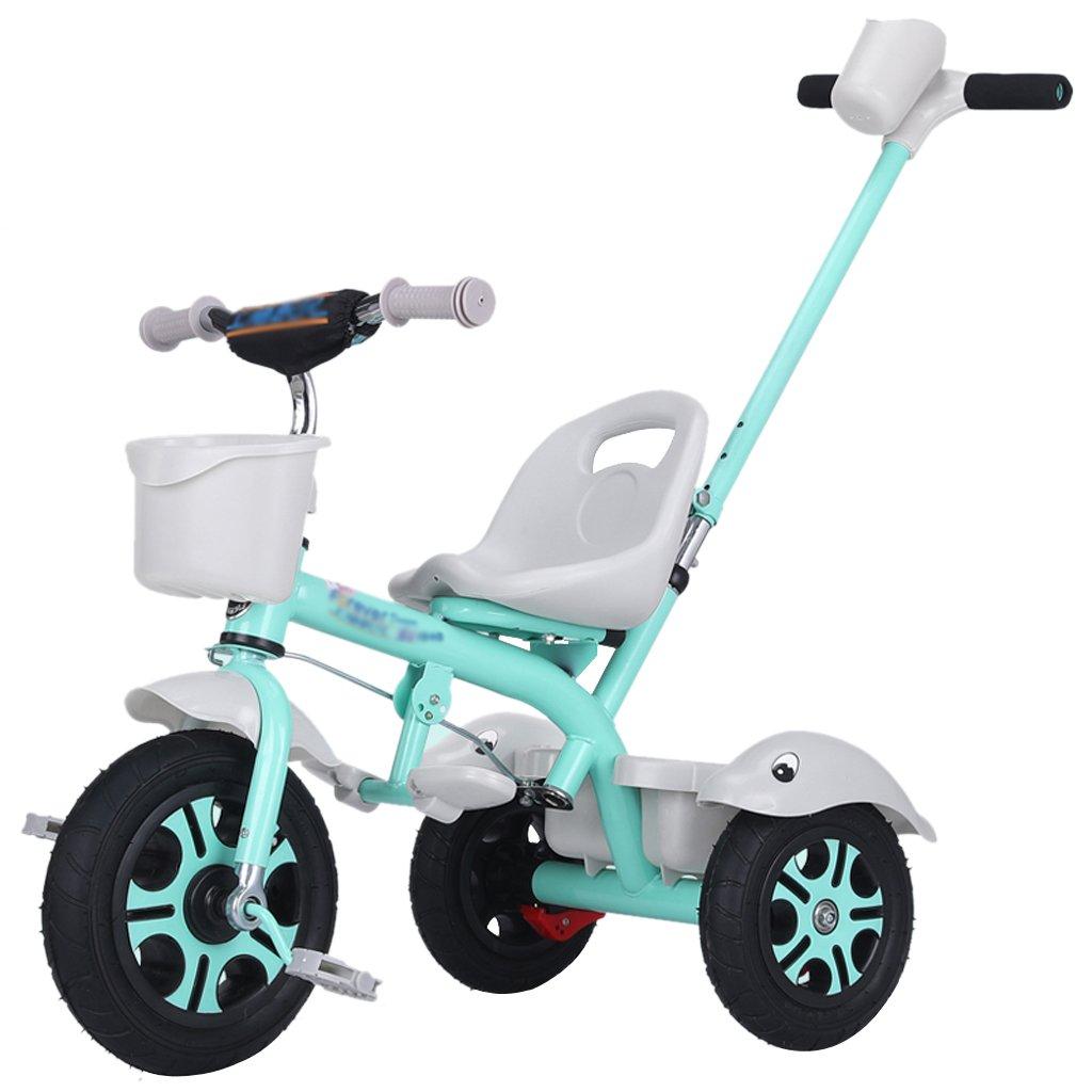 Li jing home Kinderfahrräder stilvolle Babyfahrräder dreirädrige Fahrräder für Jungen und Mädchen 1-3-5-2-6 Jahre alte Kinderwagen Picknick-Kinderwagen im Freien tragbare Gürtel Light Blau