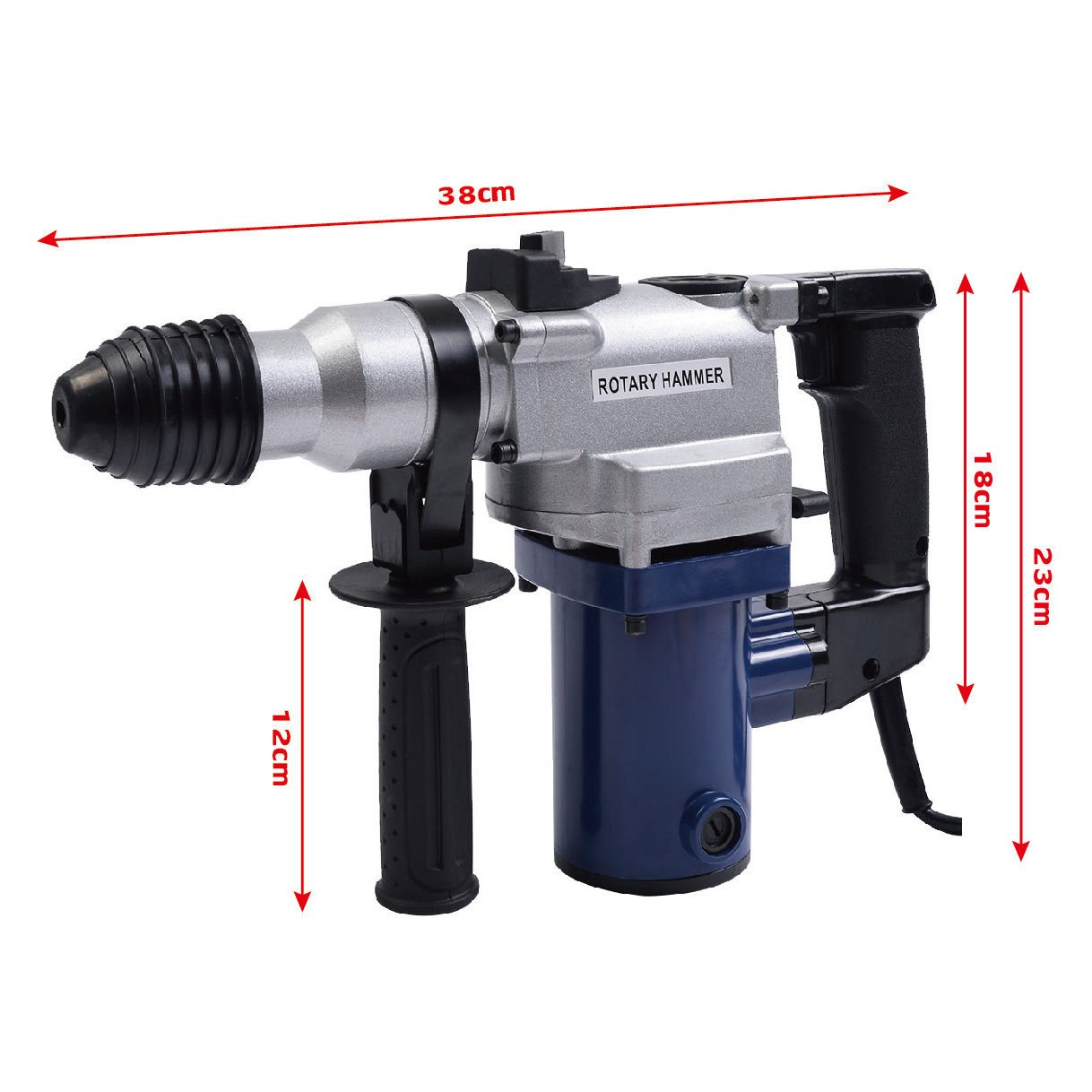 New MTN-G New 1'' Electric Rotary ROTO Hammer Drill SDS Concrete Chisel Kit w/ Bits by MTN Gearsmith (Image #4)