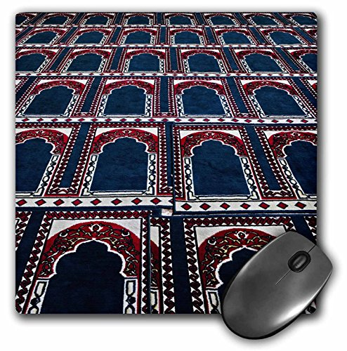 (3dRose LLC 8 x 8 x 0.25 Inches Mouse Pad, Pattern of Prayer Rugs, Islamic Mosque, Cairo, Egypt-Af14 Aje0030 - Adam Jones (mp_74155_1))