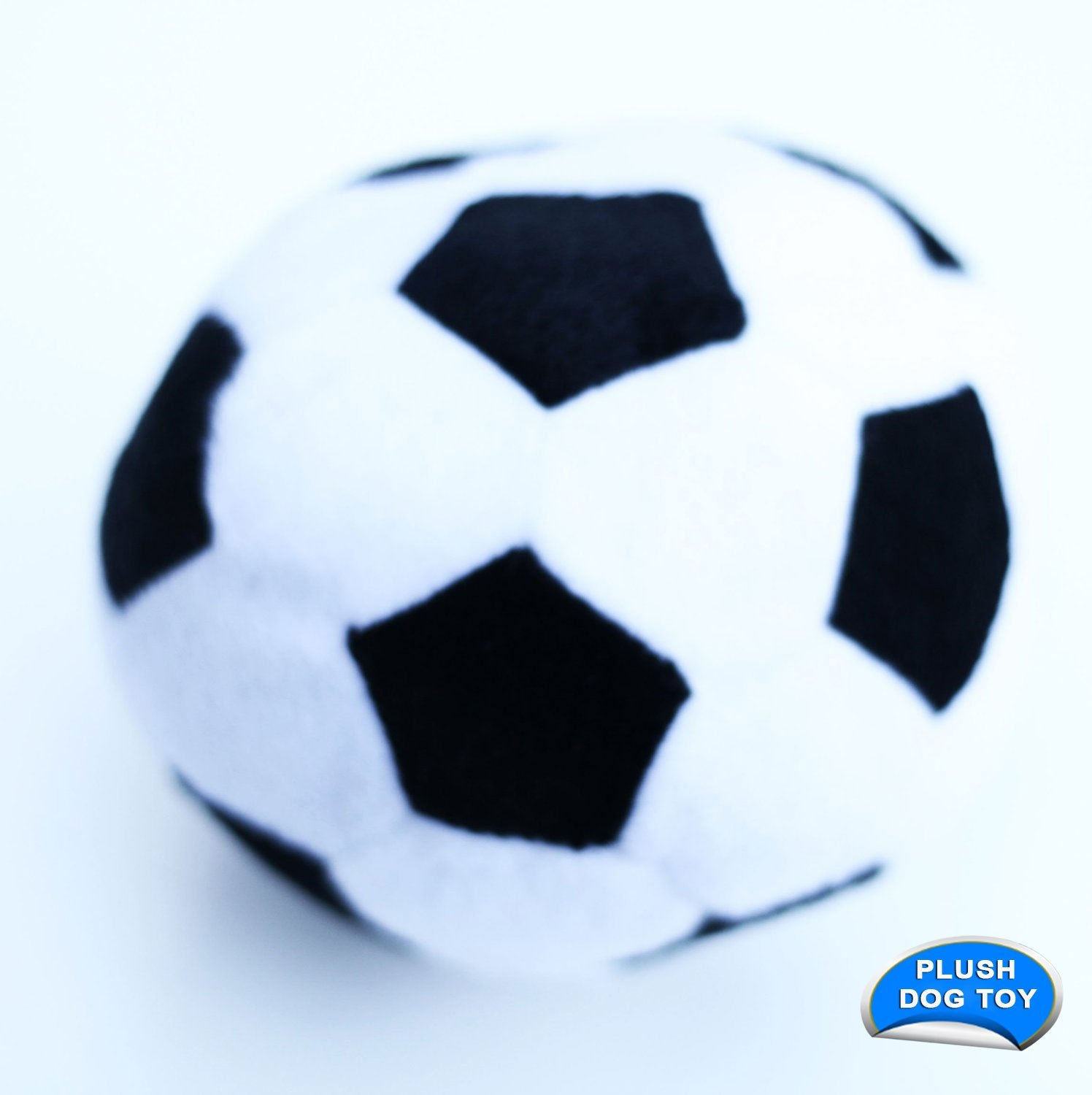Pet Plush Sport Ball, Soccer, 3-Pack by Ruffin It (Image #1)