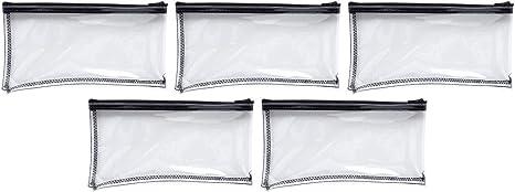 MMF Industries Vinyl Zipper Wallet 11 x 6 Inches  Clear Vinyl Zipper Wallet