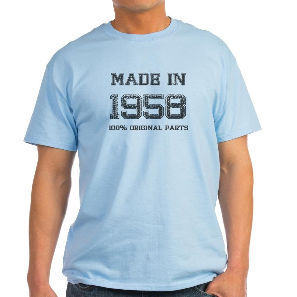 ab7100190 Amazon.com: CafePress Made in 1958 100 Percent Original Cotton T-Shirt:  Clothing
