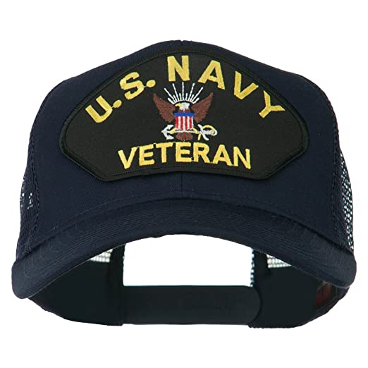 E4hats US Navy Veteran Military Patch Mesh Back Cap - Navy OSFM at ... acd70c05c4a