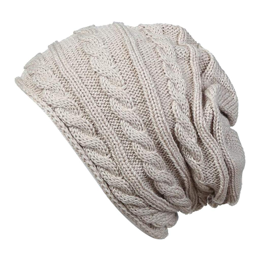 OMMR-Clearance Men Women Winter Beanie Hat Warm Knit Hat Soft Thick Fleece Lined Cable Hats Cap