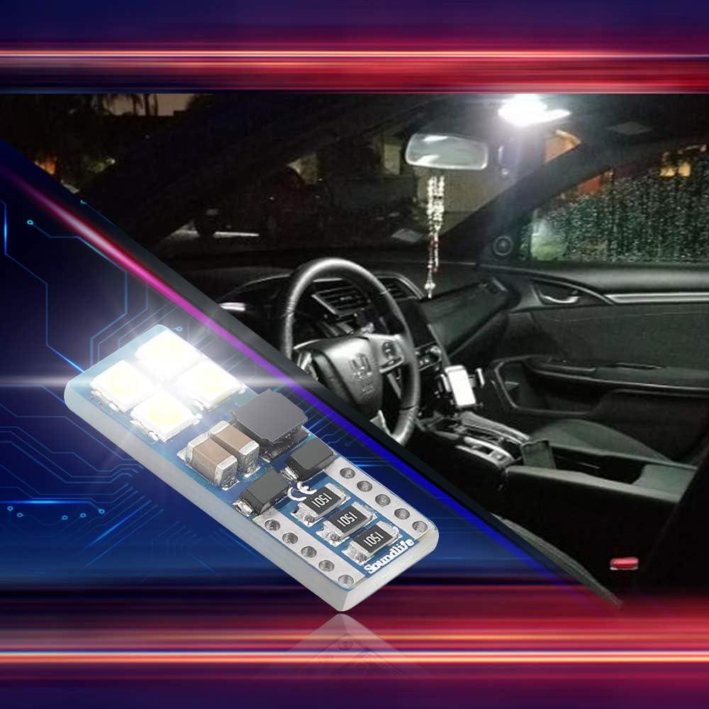 10Pcs High Power T10 2825 168 W5W Car Dome License Side Marker LED Light Bulb FT