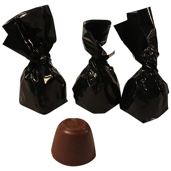 Bombones de chocolate rellenos de turrón de Jijona con denomiación de origen, 150 gramos