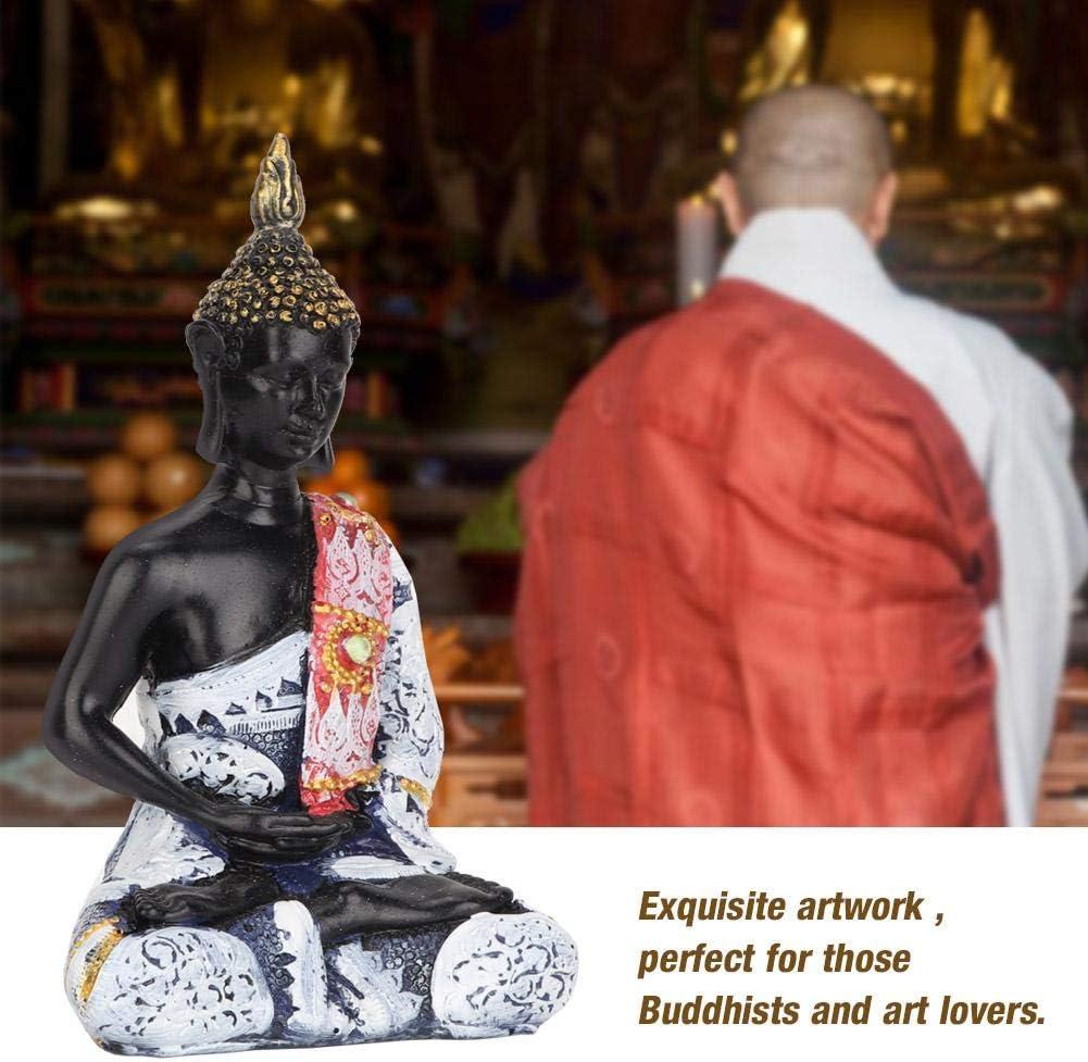 Atyhao Buddha Zen Statue Buddha in S/üdEST Asiatische Statue Buddha Zen Dekoration Fest Feier Kunsthandwerk aus Harz Silber