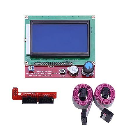 Iplusmile LCD 12864 Controlador gráfico de Pantalla Inteligente ...