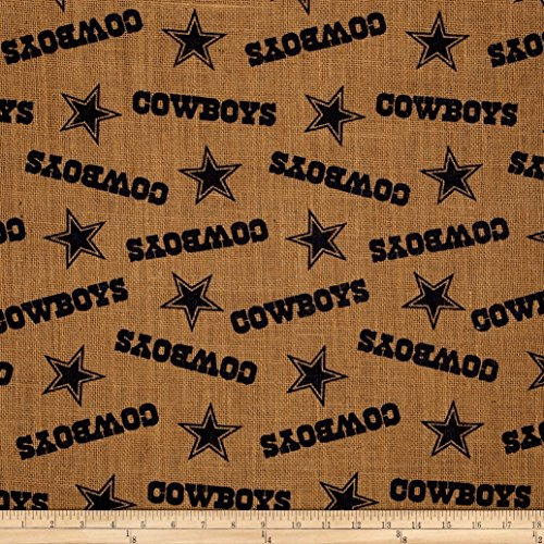 NFL Printed Burlap Dallas Cowboys Fabric By The Yard (Fabric Dallas Cowboys)