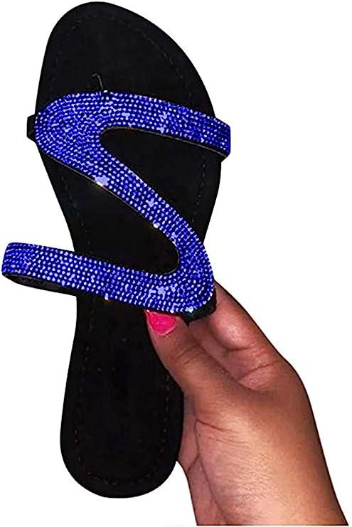 Gibobby Sandals for Women Wide Width,Womens Sandals 2019 Comfy Platform Shoes Stars Summer Beach Shoes Slipper Flip Flops
