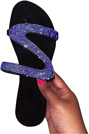 YANG-YI Sandals for Women Dressy,Womens 2021 Comfy Platform Casual Sandal Shoes Summer Beach Travel Slipper Flip Flops