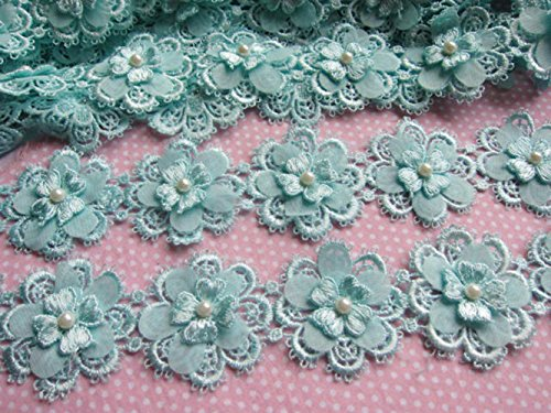 YYCRAFT Pack Of 2y Flower Lace Edge 2