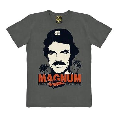 dd89ca7a8 Traktor Magnum T-Shirt - Private Investigator Short Sleeve - TV Tee Crew  Neck T-Shirt - grey - original design: Amazon.co.uk: Clothing