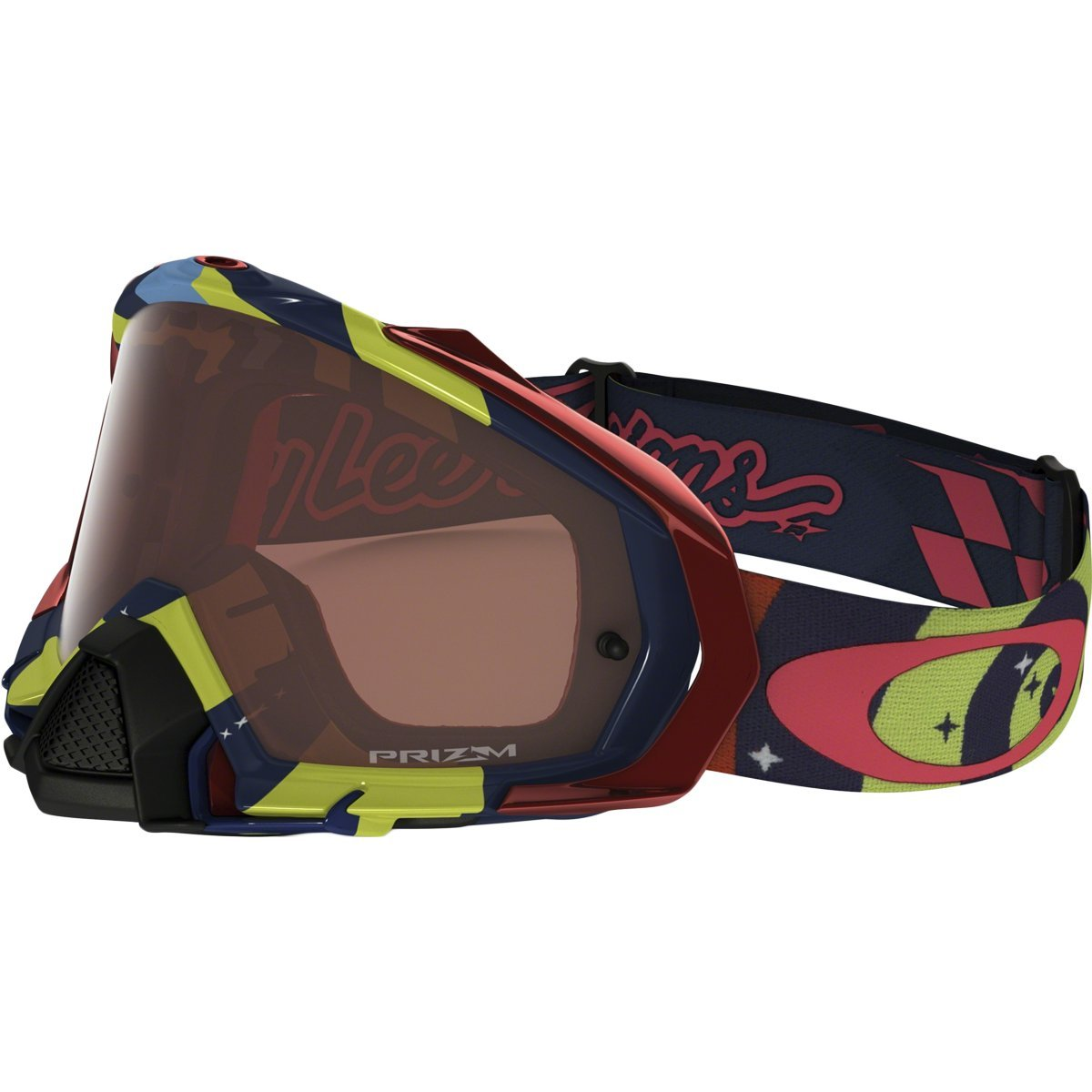 Oakley Mayhem Pro MX TLD Collection Adult Off-Road Motorcycle Goggles Eyewear - Phantom RYB/Prizm MX Bronze/One Size Fits All by Oakley