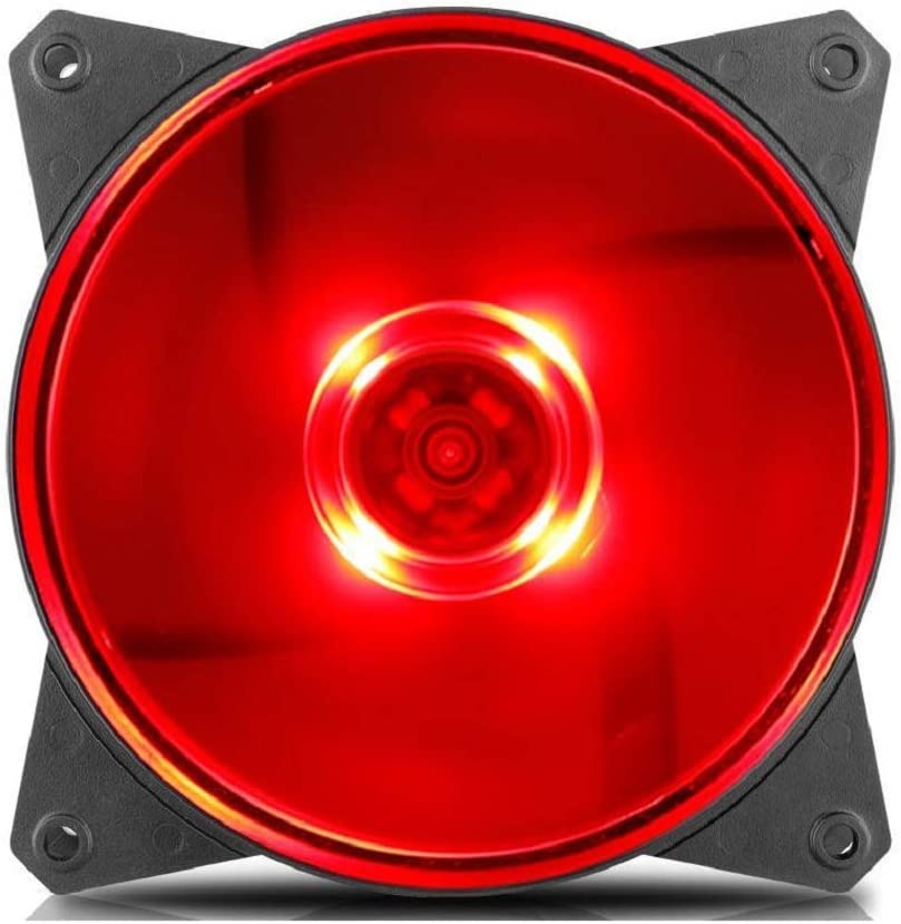 Cooler Master R4-C1DS-12FR-R1 MF120L Red 12cm LED Damping Quiet Case Fan for CPU Cooler Water Cooling 120mm Fan Replaces (RED)