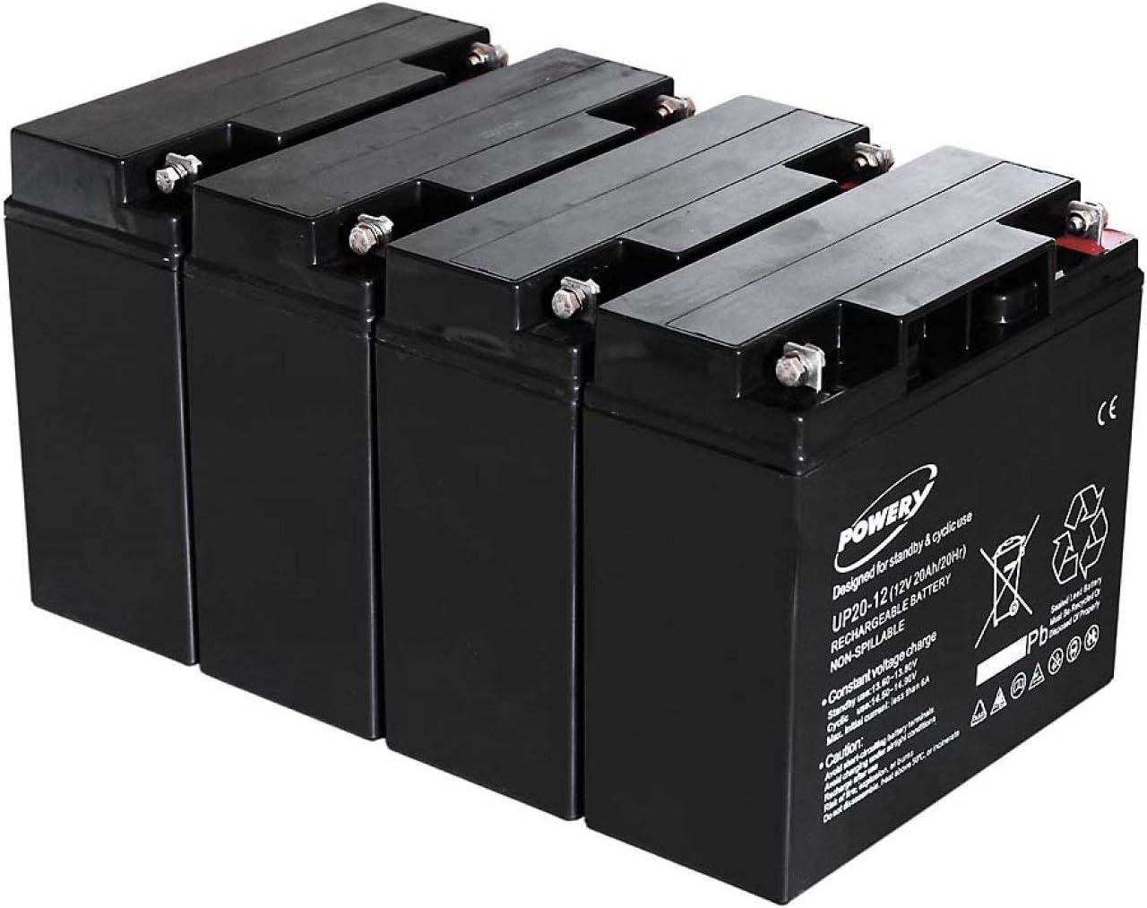 akku-net Blei-Gel Akku f/ür USV APC Smart-UPS 2200 20Ah Lead-Acid ersetzt auch 18Ah 12V
