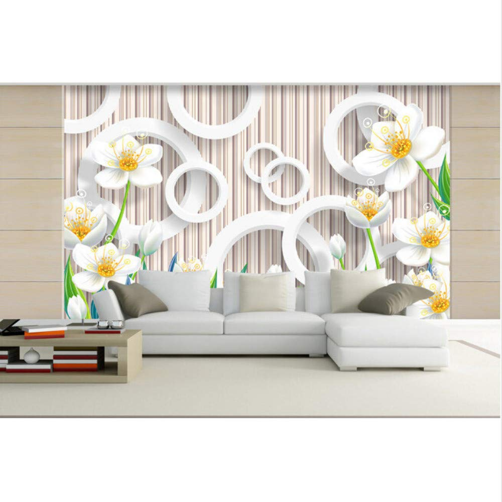 Amazon Com Xbwy Custom 3d Floral Wallpaper Warm Elegant Flower