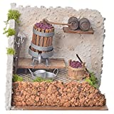 Holyart Nativity accessory, press with grapes and pump 20x14x20cm