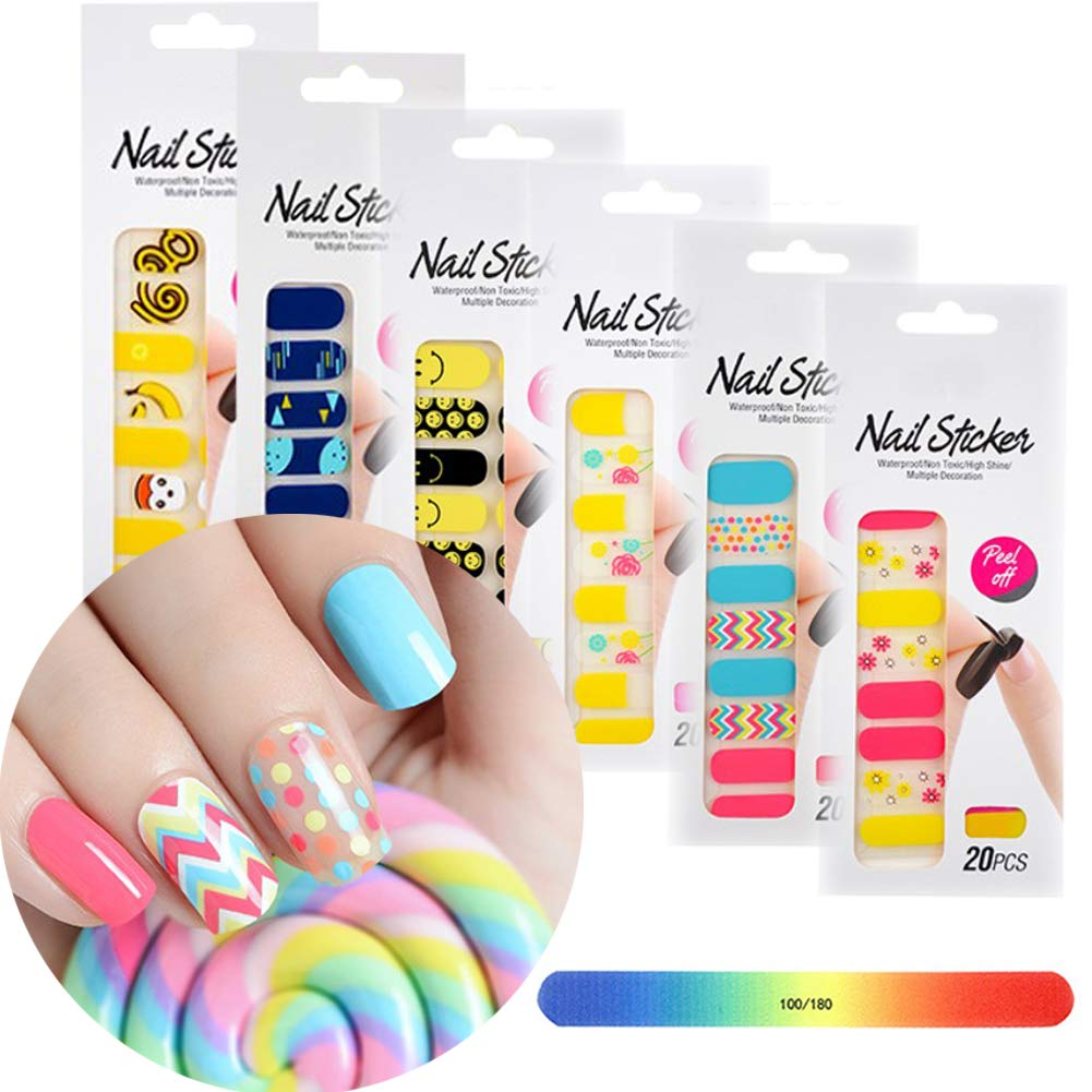 BornBeauty Glitter Nail Flower Stickers Set Adhesive Nail Art Wraps for Women Fingers and Toes DIY Manicure Kits by BornBeauty