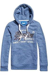 Felpa Superdry Logo eclipse Hood Blu Pop Rhnestne Vintage Donna wwXq4F1