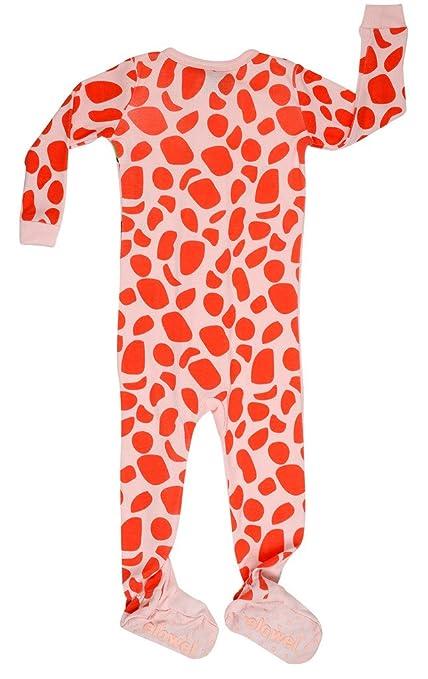4bc2c89f5 Elowel Baby Girls Footed Giraffe Pajama Sleeper 100% Cotton (Size 6M ...