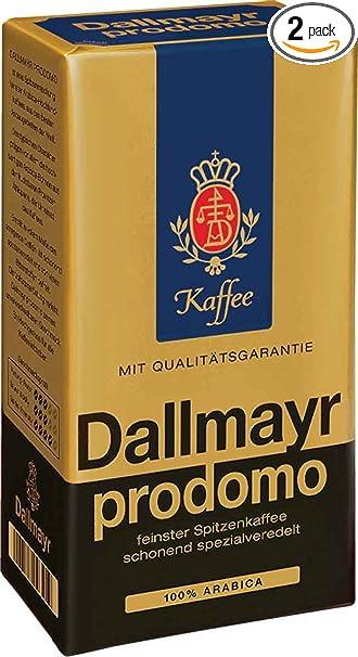Amazon.com : Dallmayr Prodomo Ground Coffee, 17.6 Ouce (Pack of 2 ...