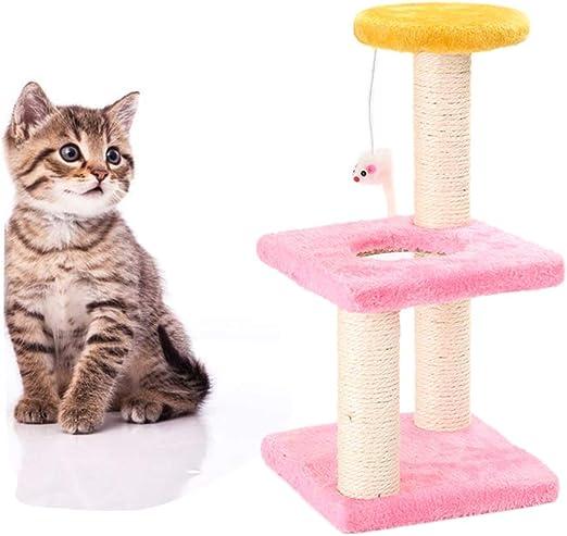 Feli546Bruce Árbol para Gatos, casa de árbol para Gatos, rascador de ratón, rascador para Mascotas, Gatos, Saltar, Escalada, Juguete Estable para rascar Gatos, función de Escalada, Torre de Juguetes: Amazon.es: Productos para
