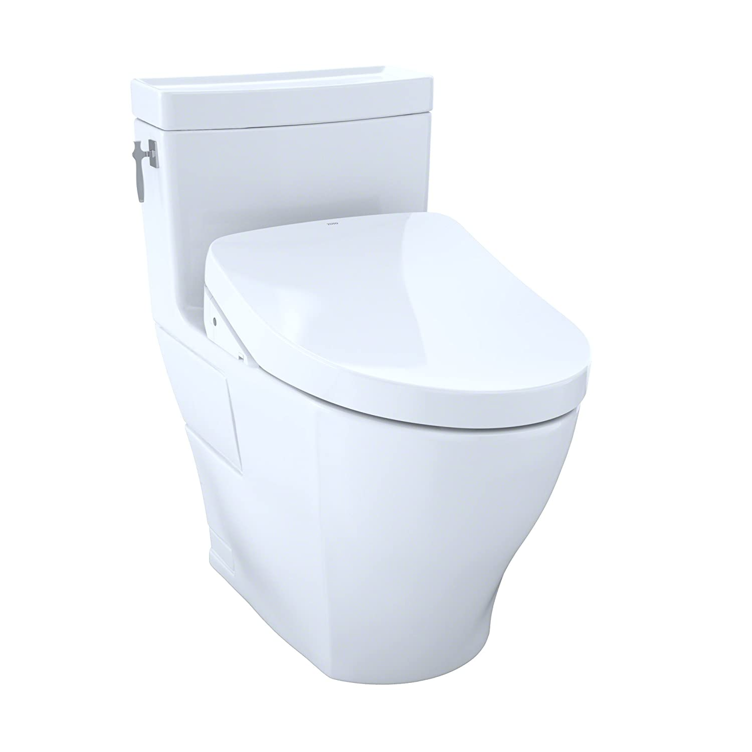 TOTO Kit Aimes One-Piece Elongated 1.28 Gpf Toilet and Contemporary ...