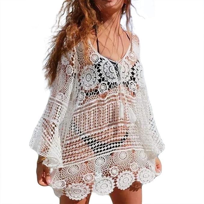Bathing Suit Lace Cover Up Biniki Swimsuit Crochet Lace Beach Cover Up Swimwear Dress