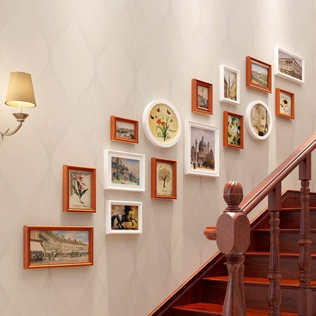 フォトウォールクリエイティブリビングルーム木製の装飾ギフト現代アートフォトフレームフォトウォール (色 : C) B07RVNVKZN C