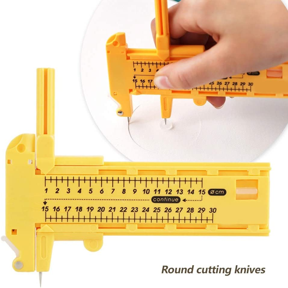 Rotary Compass Circle Cutter Paper Cardboard Rubber Leather Art Craft Toofw
