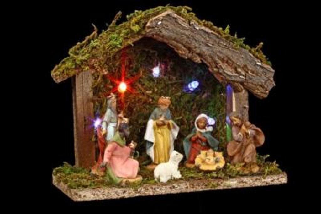 Christmas crib 7 Santons 5 LED