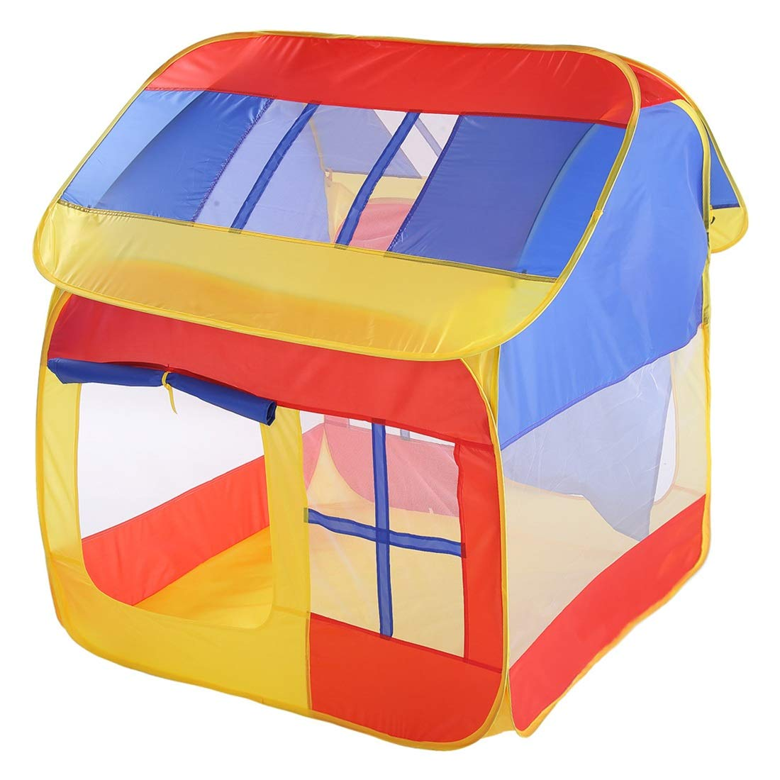 Jakiload Faltbares Kinderspielzelt-Haus-Art-Kinderspielhaus spielt Raum (Farbe : ROT)
