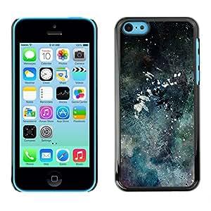 X-ray Impreso colorido protector duro espalda Funda piel de Shell para Apple iPhone 5C - Modern Art Color Splash Watercolor