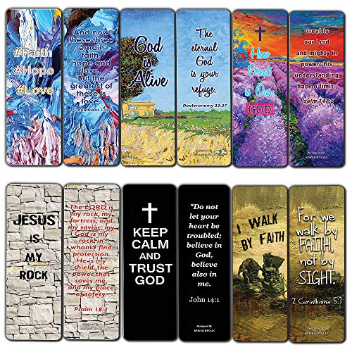 Favorite Bible Verses Bookmarks Cards (60-Pack)- Reassuring us with God