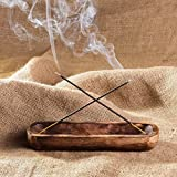GoCraft Antique Wood Incense Ash Catcher - 10 inches Oval Shaped Trough
