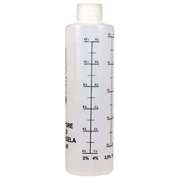 Easyboost 2 Stroke Oil Fuel Mixing Bottle with Cap  1:50-1:40-1:33-1:25-1:20-1:17 250ml Petrol Gas Measuring Jug Motorcycle  Scooter Quad Brush Cutter