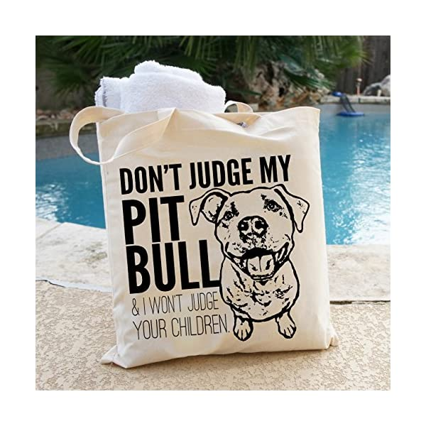 Don't Judge My Dog Tote Bag by Pet Studio Art 5